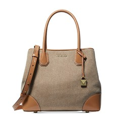Kabelka Michael Kors Mercer Gallery Medium Canvas Satchel natural