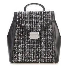 Kabelka batoh Michael Kors Whitney Tweed Leather Backpack černá/stříbrná