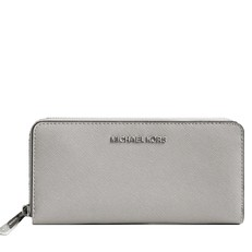 Peněženka Michael Kors Jet Set Saffiano Continental pearl grey