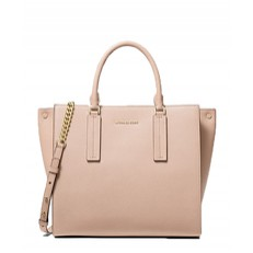 Kabelka Michael Kors Alessa Large Pebbled Leather Satchel soft pink
