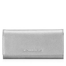 Peněženka Michael Kors Jet Set Flat Wallet pearl grey