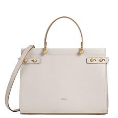 Kožená kabelka Furla Lady M Tote M lino