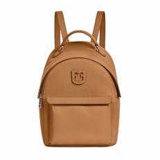 Kožená kabelka batoh Furla Favola Backpack S caramello