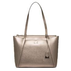 Kabelka Michael Kors Maddie Medium Metallic Leather Tote zlatá