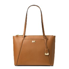 Kabelka Michael Kors Maddie Medium Crossgrain Leather Tote acorn