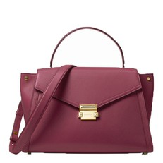 Kabelka Michael Kors Whitney Large Leather Satchel maroon