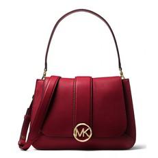 Kabelka Michael Kors Lillie Medium Leather Shoulder maroon
