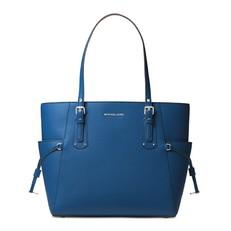 Kabelka Michael Kors Voyager Crossgrain Leather Tote grecian blue