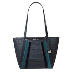 Kabelka Michael Kors Whitney Small Logo Tote admiral/teal/silver