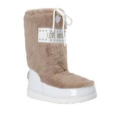 Obuv Love Moschino Moon Boots béžové