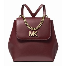 Batoh Michael Kors Mott Leather Backpack oxblood