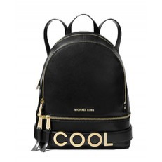 Kabelka batoh Michael Kors Rhea Medium Embellished Leather Backpack