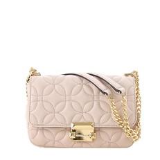 Kabelka Michael Kors Sloan Small Floral Quilted Leather Shoulder soft pink