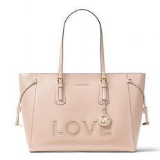 Kabelka Michael Kors Voyager Medium Love Tote soft pink