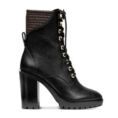 Obuv Michael Kors Bastian Leather Lace-Up Booties
