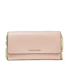 Kabelka Michael Kors Large Crossgrain Leather Convertible Chain Wallet