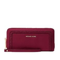 Peněženka Michael Kors Lexington Large Pebbled Leather Continental Wristlet berry