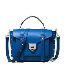 Kabelka Michael Kors Manhattan Medium Leather Satchel blue