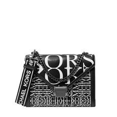 Kabelka Michael Kors Whitney Large Newsprint Logo Leather Convertible Shoulder