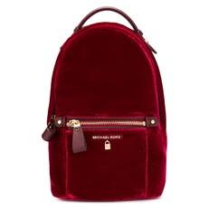 Batoh Michael Kors Kelsey Small Velvet Backpack maroon