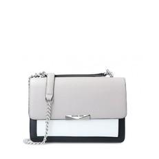 Kabelka Michael Kors Jade Large Tri-Color Leather Crossbody pearl grey/optic white/black