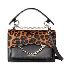 Kabelka Karl Lagerfeld K/Karl Seven Leopard Shoulder černá