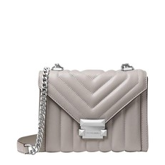 Kabelka Michael Kors Whitney Large Quilted Leather Convertible Shoulder pearl grey