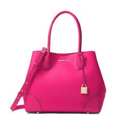 Kabelka Michael Kors Mercer Gallery Medium Leather Tote ultra pink