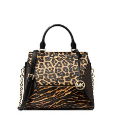 Kabelka Michael Kors Prism Large Animal-Print Calf Hair and Leather Satchel