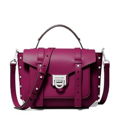Kabelka Michael Kors Manhattan Medium Leather Satchel garnet