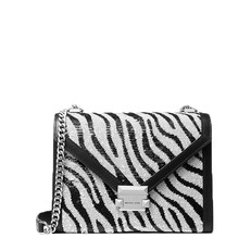 Kabelka Michael Kors Whitney Large Zebra Sequined Convertible Shoulder