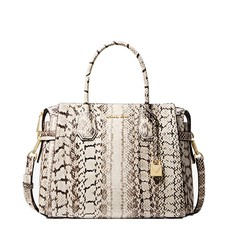 Kabelka Michael Kors Mercer Medium Snakeskin Belted Satchel
