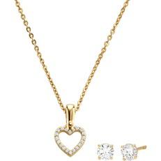 Set náhrdelník a naušnice Michael Kors Hearts