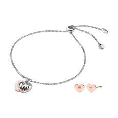 Set náramku a naušnice Michael Kors Hearts