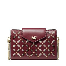 Kabelka Michael Kors Embellished Crossbody Clutch oxblood