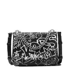 Kabelka Michael Kors Mott Large Graffiti Leather Crossbody