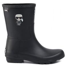 Obuv Karl Lagerfeld kotníkové holinky Kalosh Ikonik Midi Rain Boot