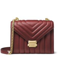Kabelka Michael Kors Whitney Large Quilted Leather Convertible Shoulder brandy