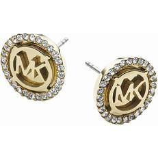 Naušnice Michael Kors Crystal Pave Logo zlaté