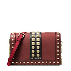Kabelka Michael Kors Jet Set Large Studded Saffiano Leather Crossbody