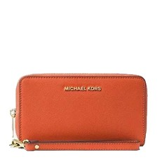 Peněženka Michael Kors Jet Set Travel Phone Case Leather orange