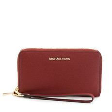 Peněženka Michael Kors Jet Set Travel Phone Case Leather brandy