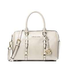 Kabelka Michael Kors Bedford Legacy Medium Pebbled Leather Duffel Satchel krémová