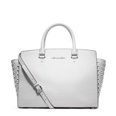 Kabelka Michael Kors Selma Large Grommet Satchel optic white