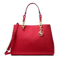 Kabelka Michael Kors Cynthia Saffiano Leather Satchel brigth red