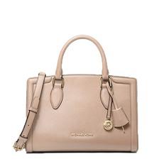 Kabelka Michael Kors Zoe Medium Pebbled Leather Satchel soft pink