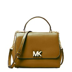 Kabelka Michael Kors Mott Medium Leather Satchel acorn