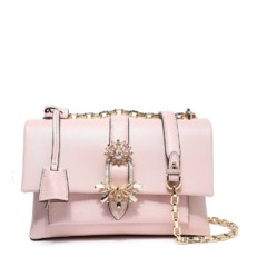 Kabelka Michael Kors Cece Medium Embellished Leather Shoulder soft pink