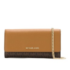 Kabelka Michael Kors Large Logo and Leather Convertible Chain Wallet
