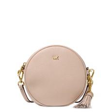 Kabelka Michael Kors Mercer Medium Pebbled Leather Canteen Crossbody soft pink